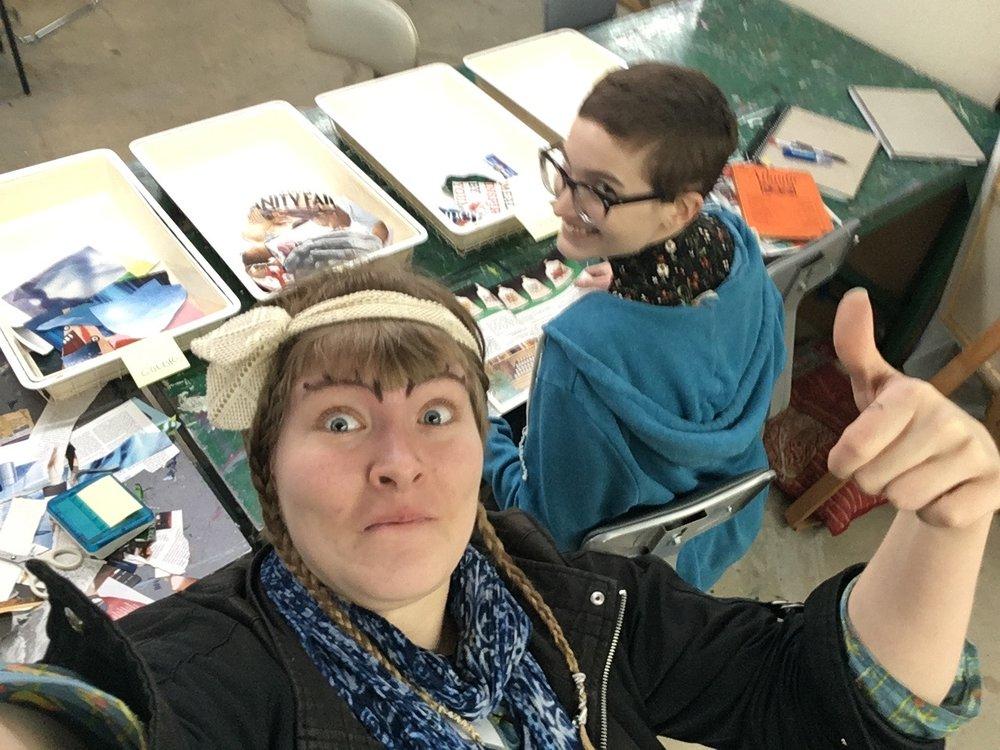 Me and Iris had fun cutting paper :D