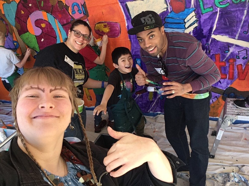 Me, Melodee, a random kid and Tre'on decided to take a selfie :D