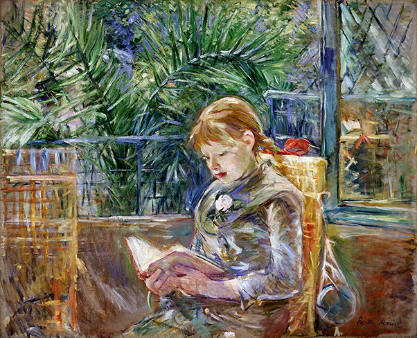 "- Berthe Morisot, ""Reading(la lecture),"" 1888"