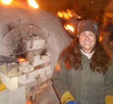 Working the 12am to 7am shift for a fire at the Anagama wood kiln.