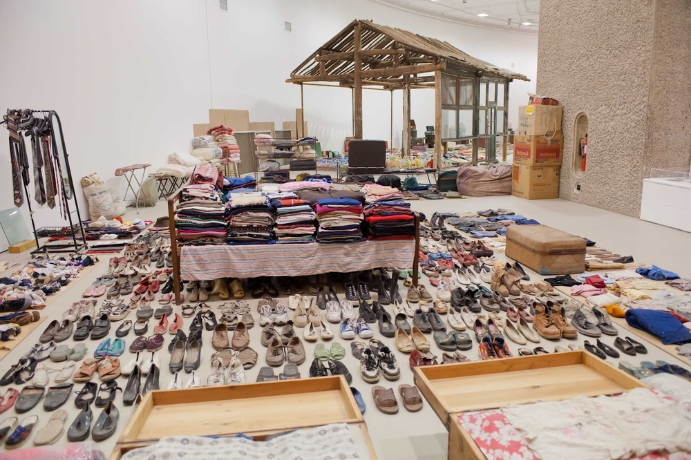 An art installation by Chinese conceptual artist, Song Dong (Installation: Waste Not) showing the accumulated household objects over one person's lifetime.