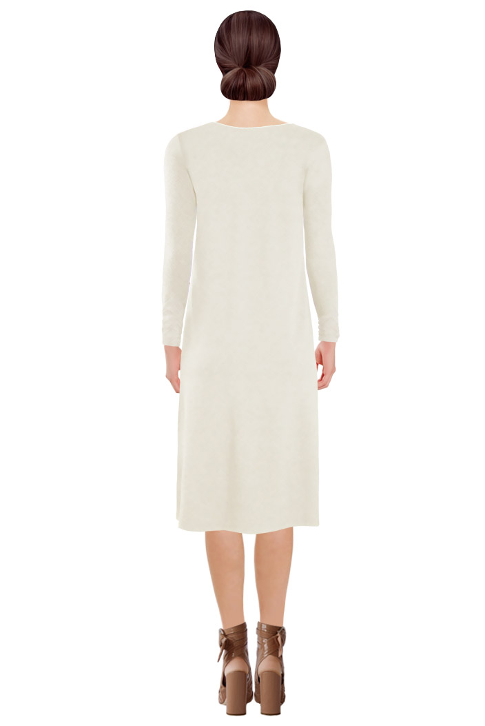 Zipped Dress Off-white Back.jpg