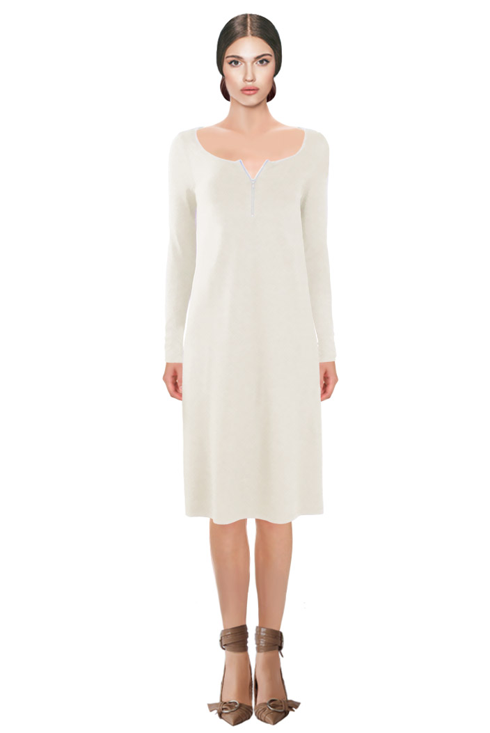 Zipped Dress Off-white.jpg