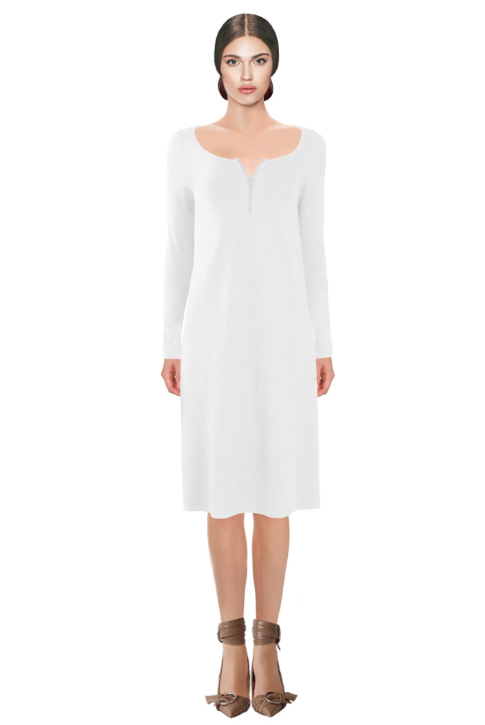 Zipped Dress White.jpg