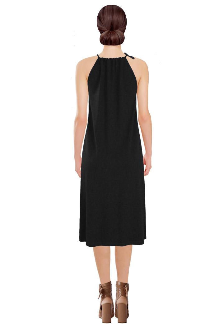 Tied Dress Black Back.jpg