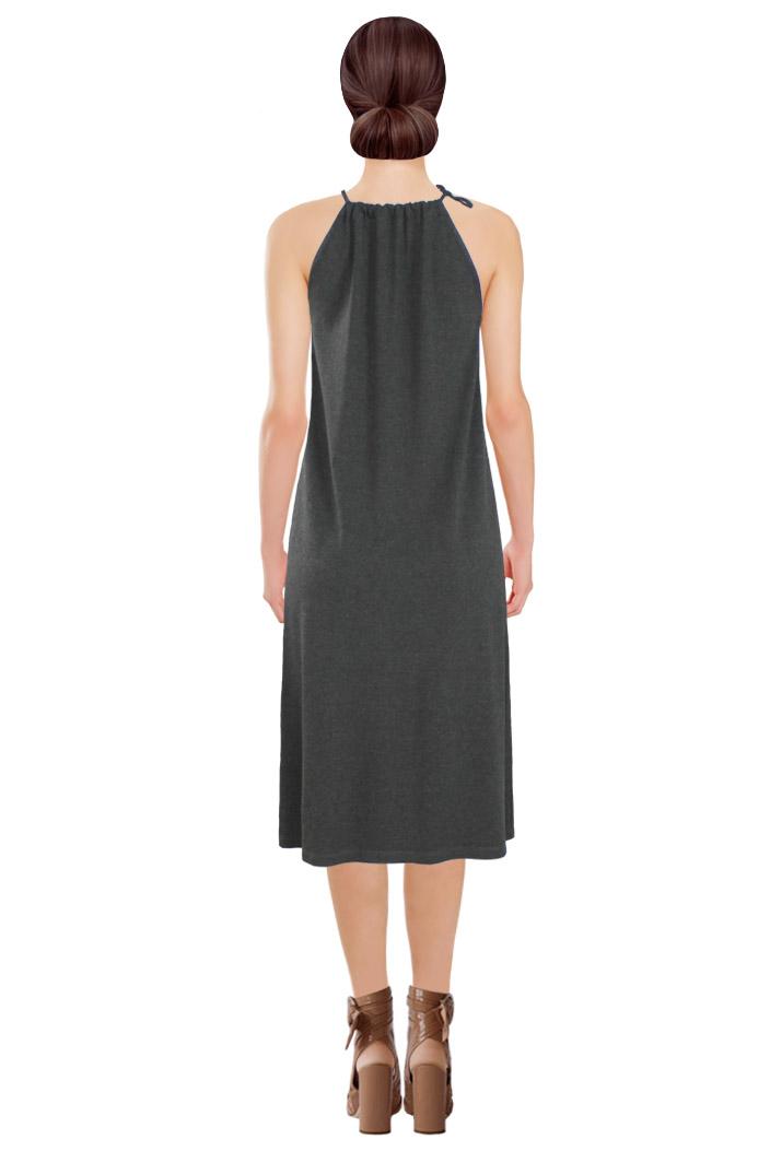 Tied Dress Grey Back.jpg
