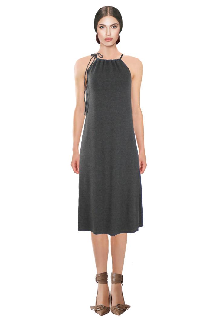 Tied Dress Grey.jpg