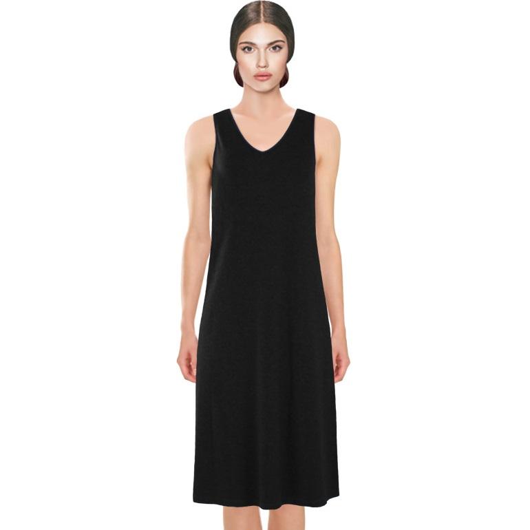 Black dress zip back quiver