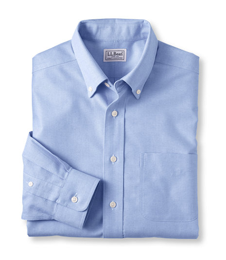 LL Bean - Wrinkle Free Classic Oxford Cloth Shirt - Slightly Fitted.jpg