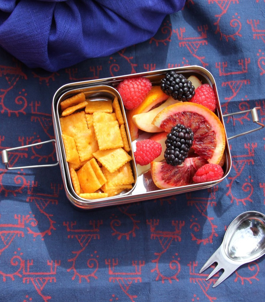 Fit a starter, main and dessert in ECOlunchbox's Three-In-One. Photo credit: Ecolunchboxes.com