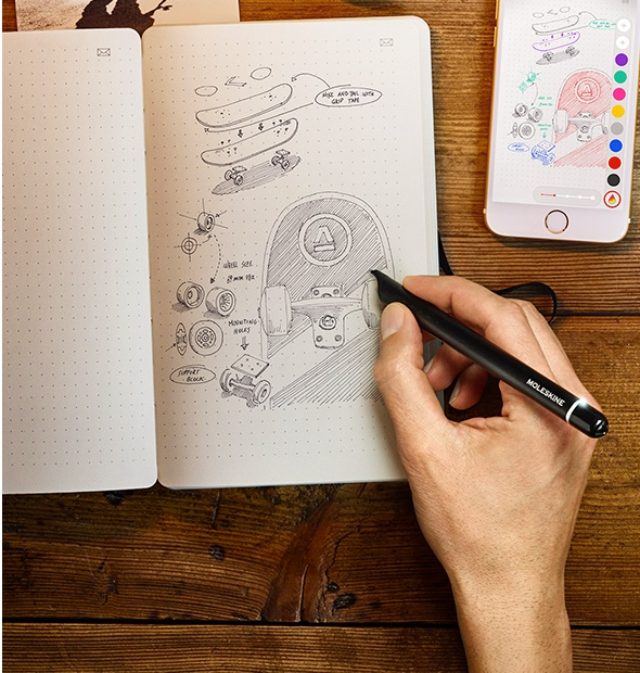 Get creative with your Moleskine notebook. Photo credit: Moleskine.com