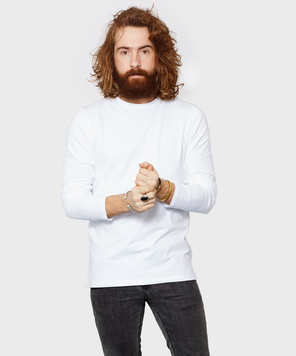 White T-Shirt Co Mens Long Sleeve Round Neck Fitted Tee 1.jpg