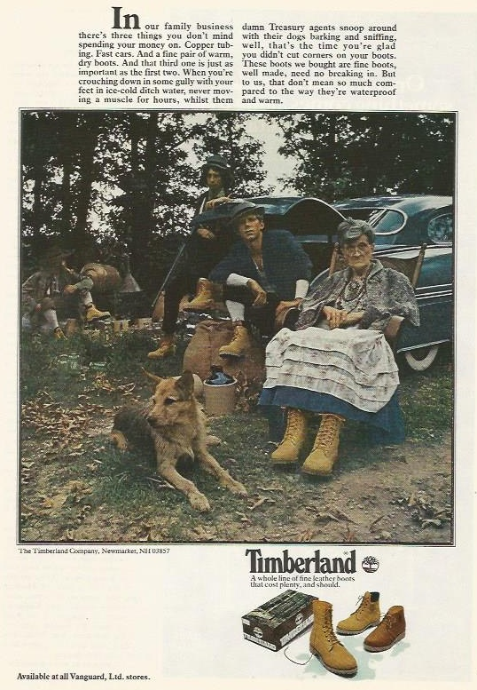 Ad run by Timberland in 1979.