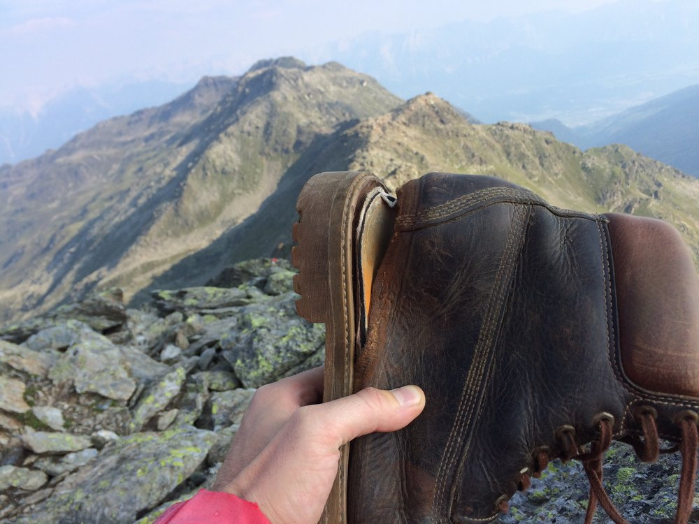 Don't take even the most expensive Timberlands on a hill walk. Photo: Jan, BuyMeOnce reader.