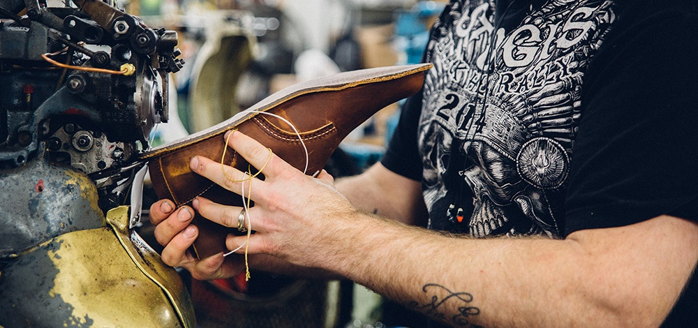 Handmaking a new member of the Redwing Heritage collection.