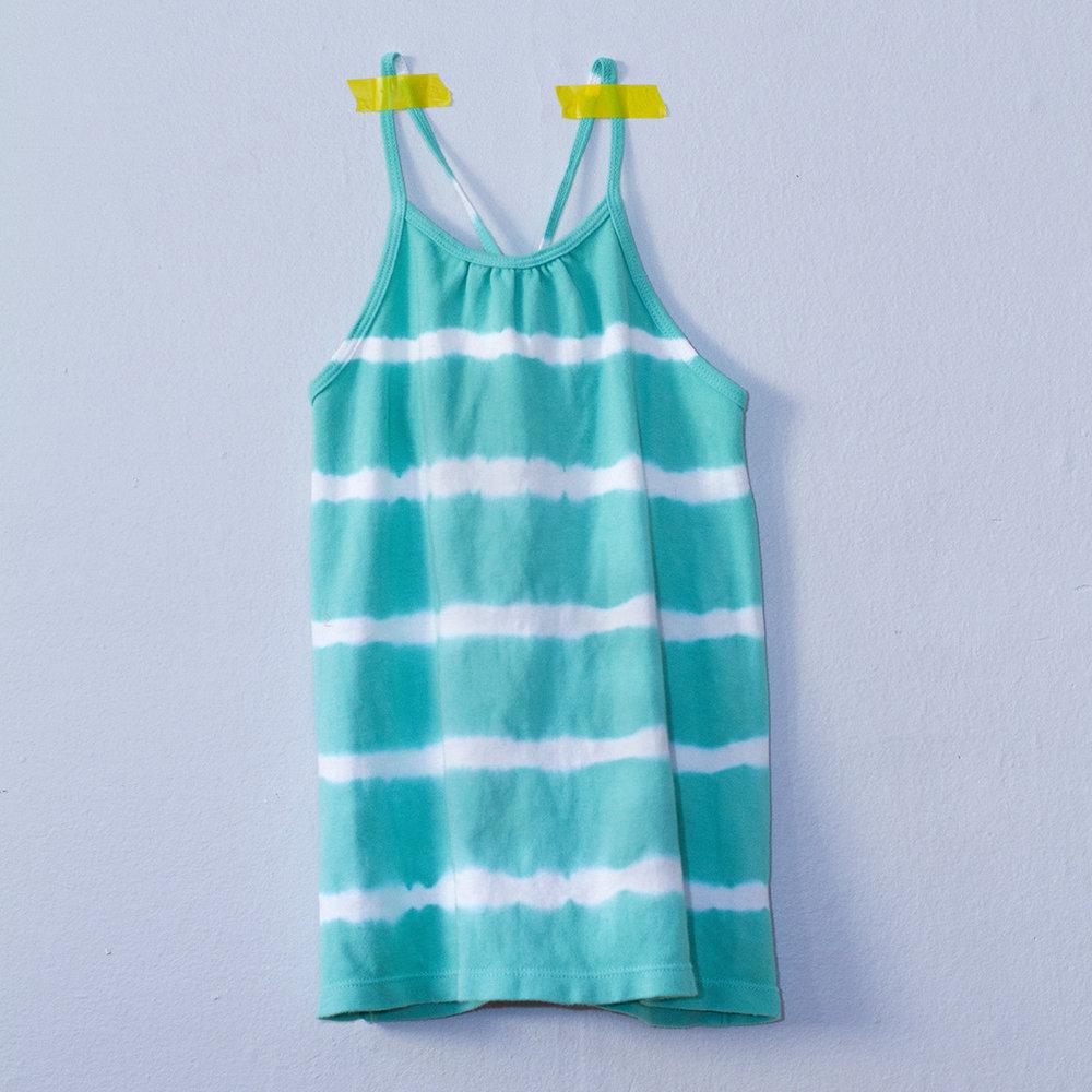 Nula Strap Dress Aqua Stripe 1.jpg