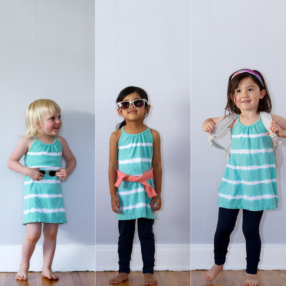 Nula Strap Dress Aqua Stripe 3.jpg