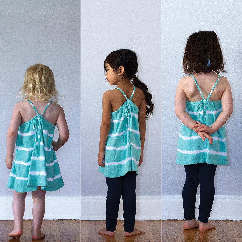 Nula Strap Dress Aqua Stripe 5.jpg