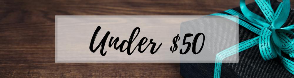 under $50 gift banner