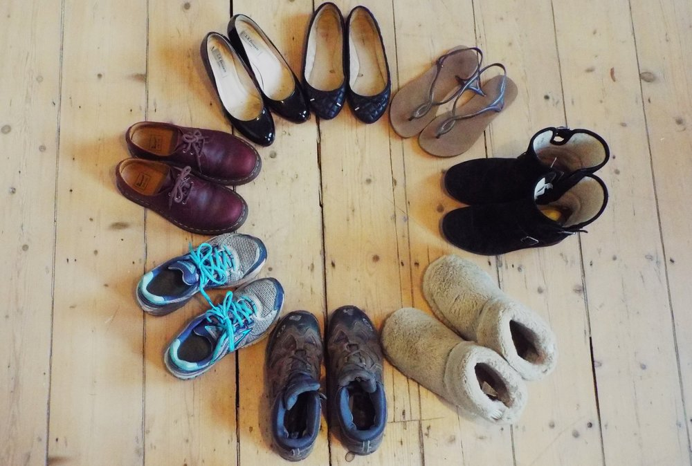 It's the circle of shoes - and they all move Tara.