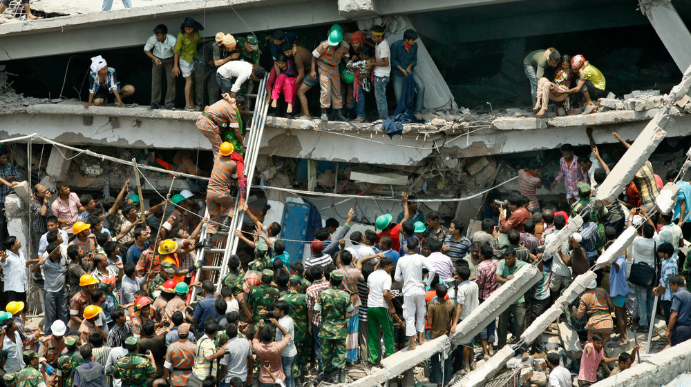 1,129 people tragically died when the garment factory at Rana Plaza collapsed in 2013. A further 2,500 injured workers were rescued from the wreckage.