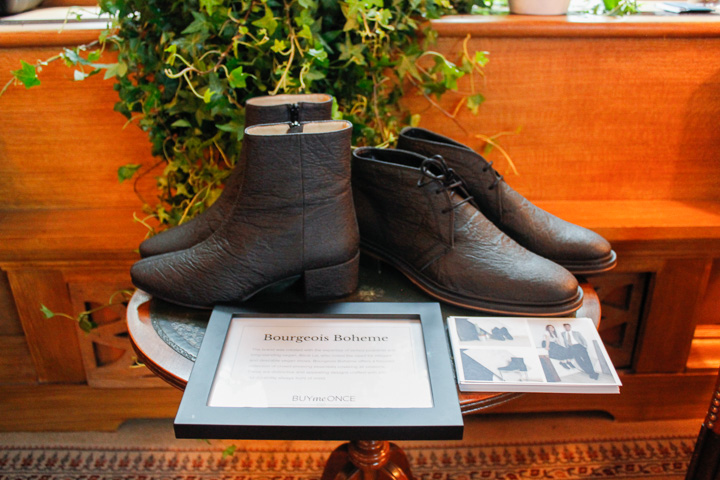 Bourgeois Boheme showcased a couple of their new Pinatex range. The future in durable vegan shoes?