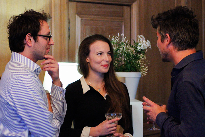 Tara and fiancé Howard are joined in conversation by inventor extraordinaire Tom Lawton.