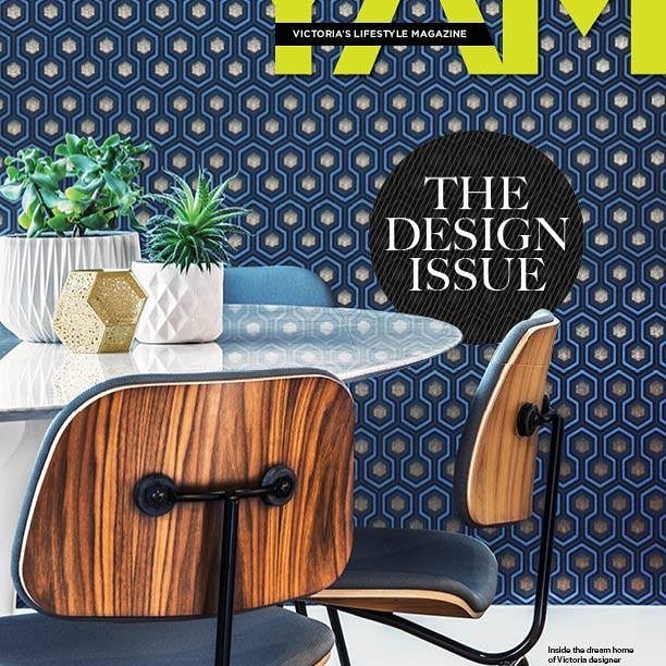 So honored to find the dining room of our custom residential project on the cover of @yam_magazine this month! Check out the article for more photos & the design inspiration.  #interiordesign #yyj #coleandson #knoll #eames