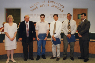 Here I am (3rd from left) accepting an honor in a National High School Architectural Design Competition in 1996.