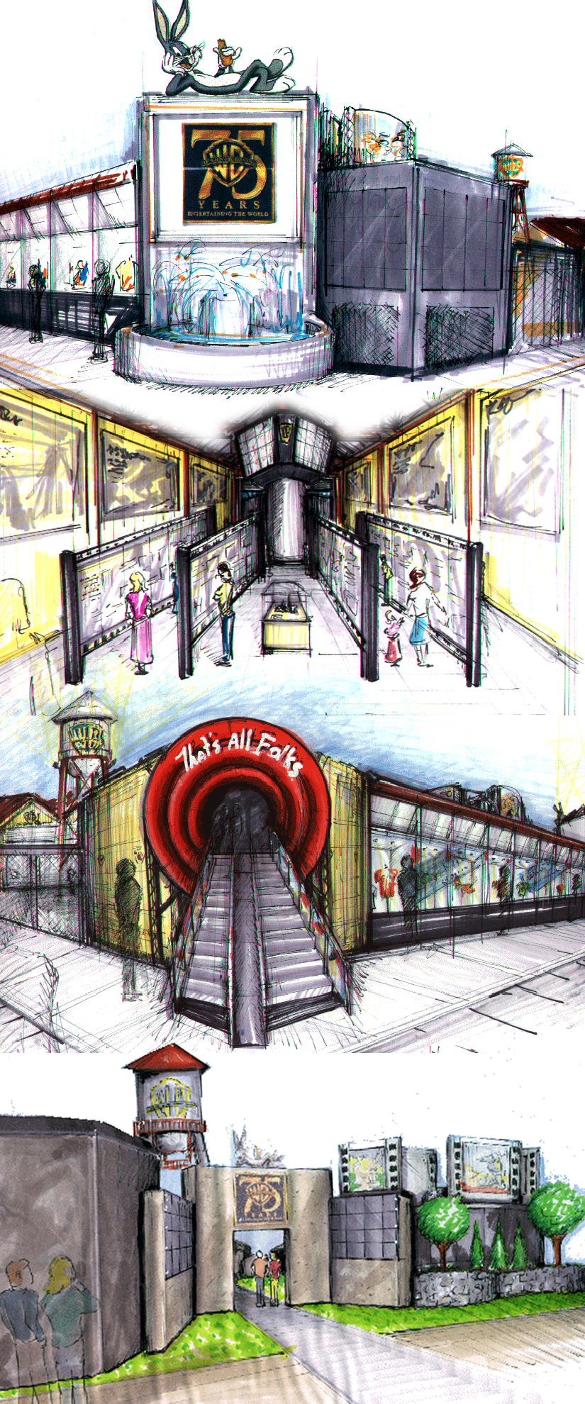 Early renderings for animation museum concept