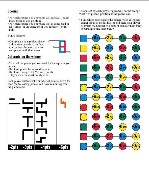 Draft game-play instructions page 2.