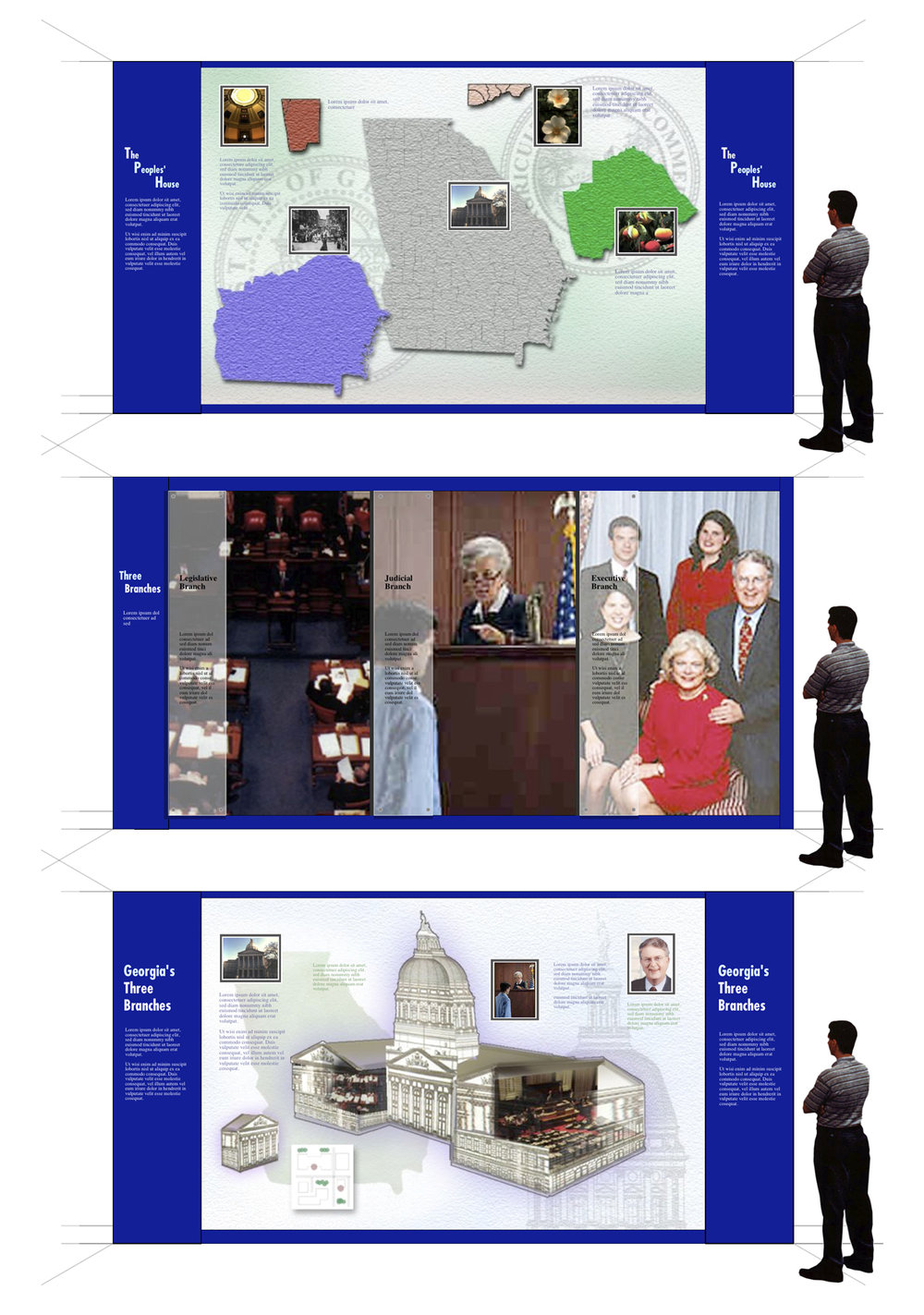 Early concepts for Capitol Visit exhibit.
