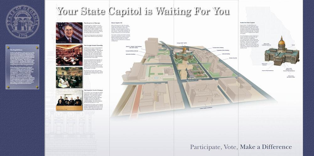 Final layout of Capitol Visit exhibit.