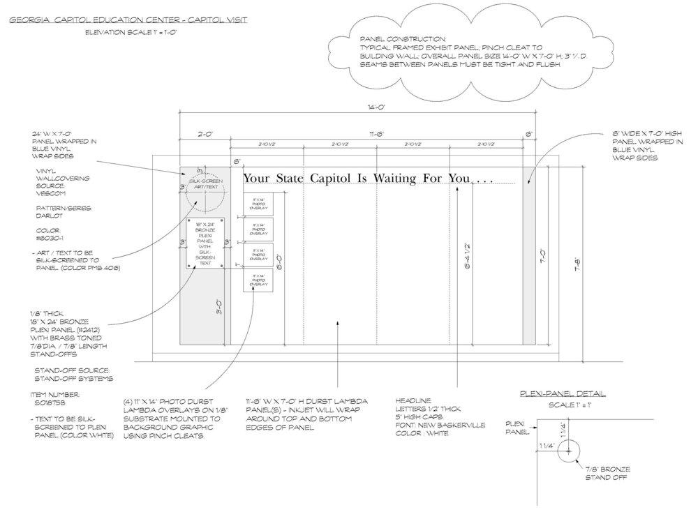 Design control drawing for Capitol Visit exhibit.