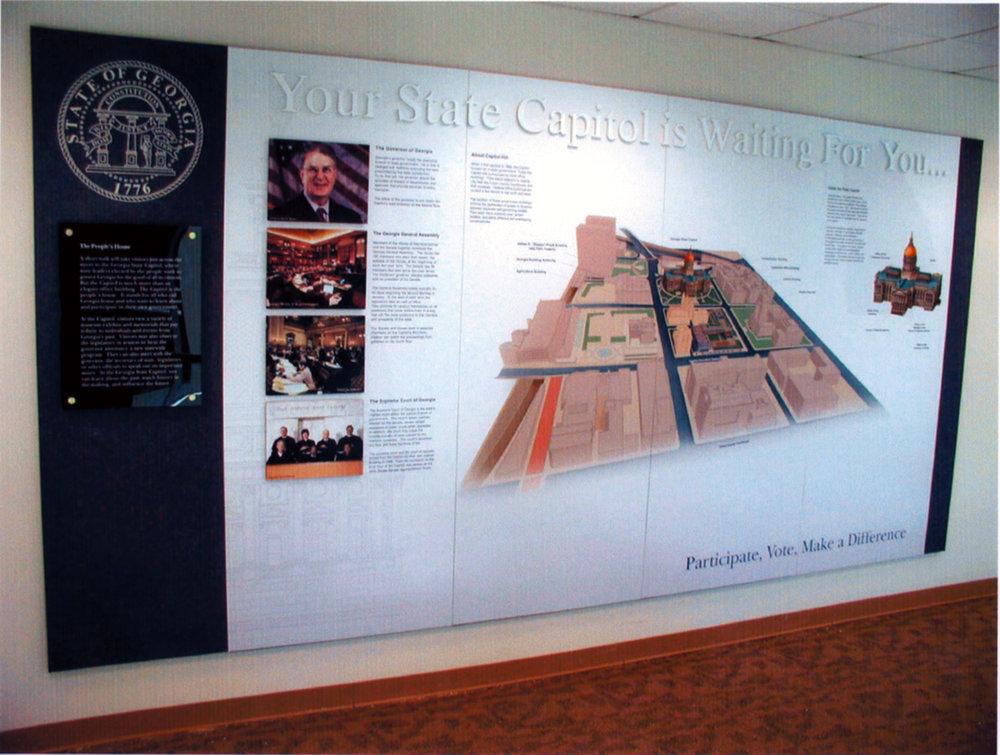 Photo of installed Capitol Visit exhibit.