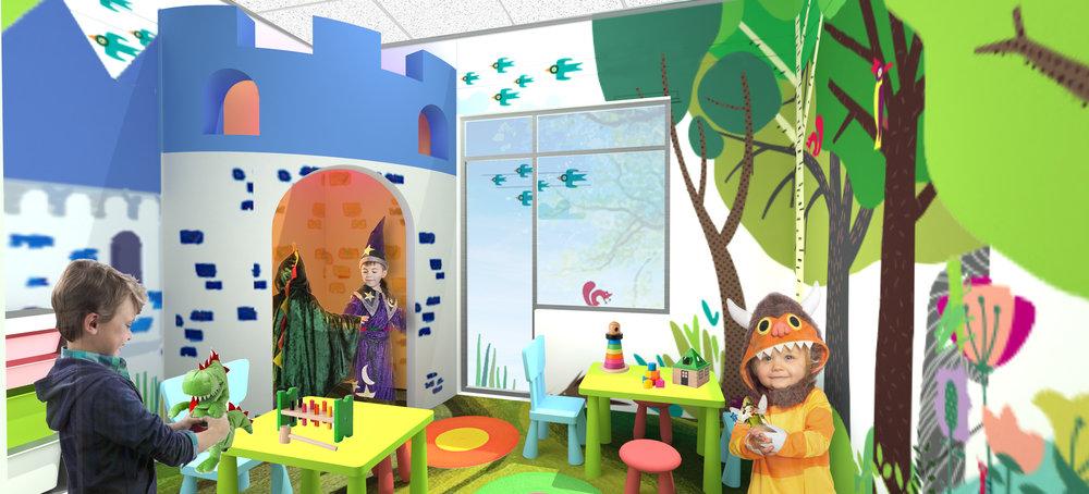 Original rendering for play space.
