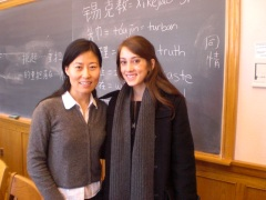 Admission Planning student with her Chinese professor at Yale University