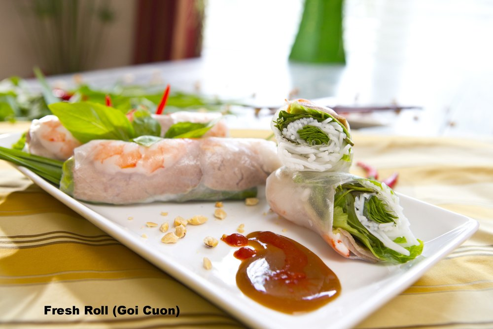 Shrimp and Pork Fresh Rolls