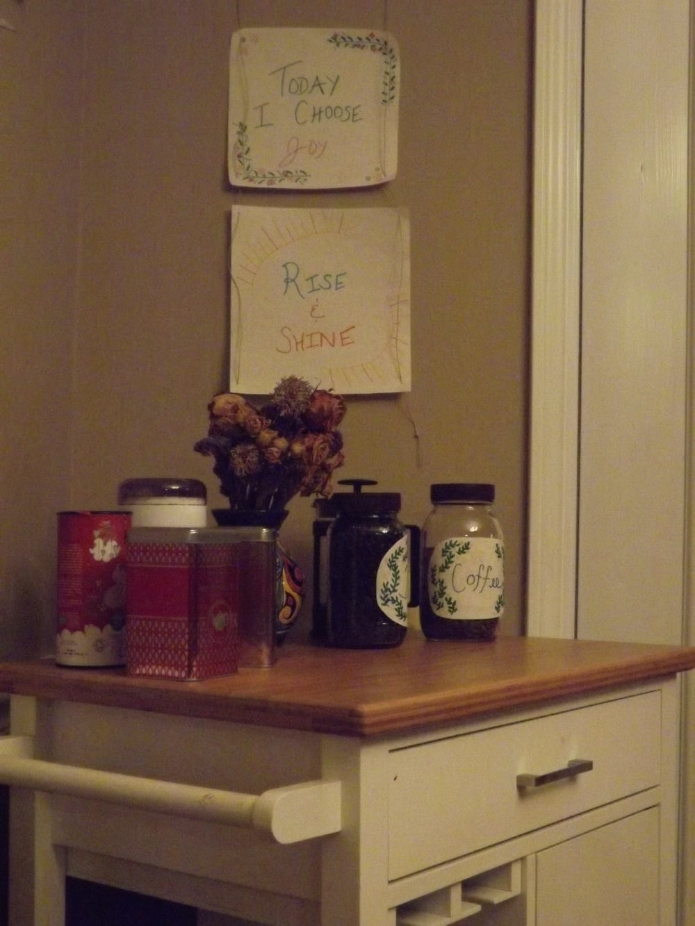 And, the coffee bar, in all its glory. :)
