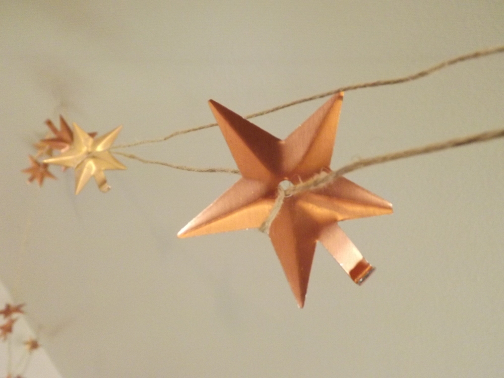 Star garland close-up