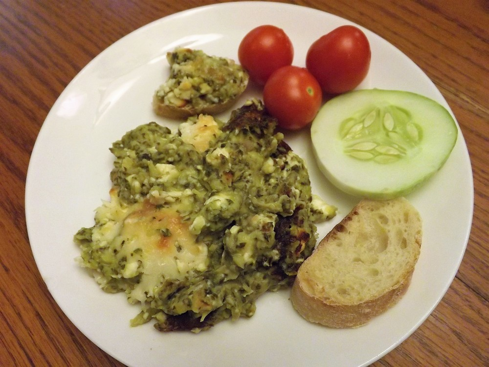 I made a delicious spinach and artichoke dip for supper one night; even the toddler loved it!