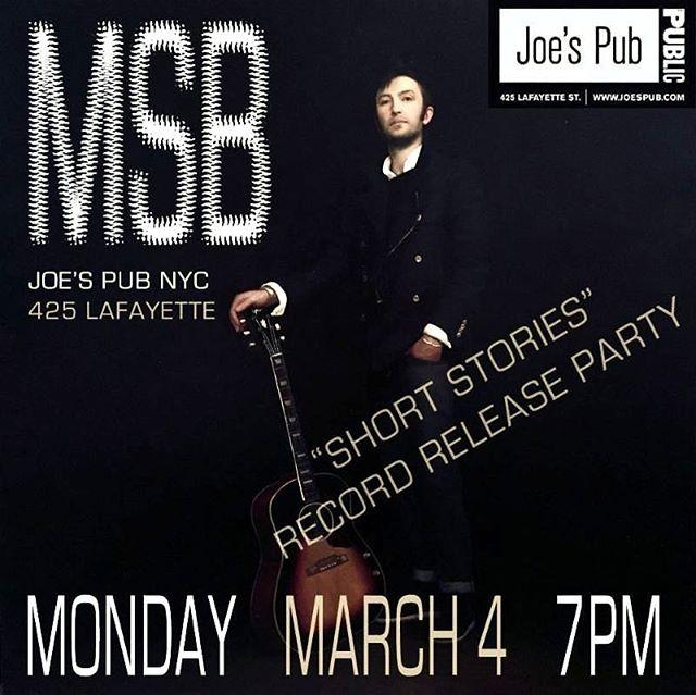 Showtime... #livemusic #nyclivemusic @joespub @publictheaterny #concert #band #singersongwriter #downtownmusic @cat_toren @jenkzy56 @leosidran