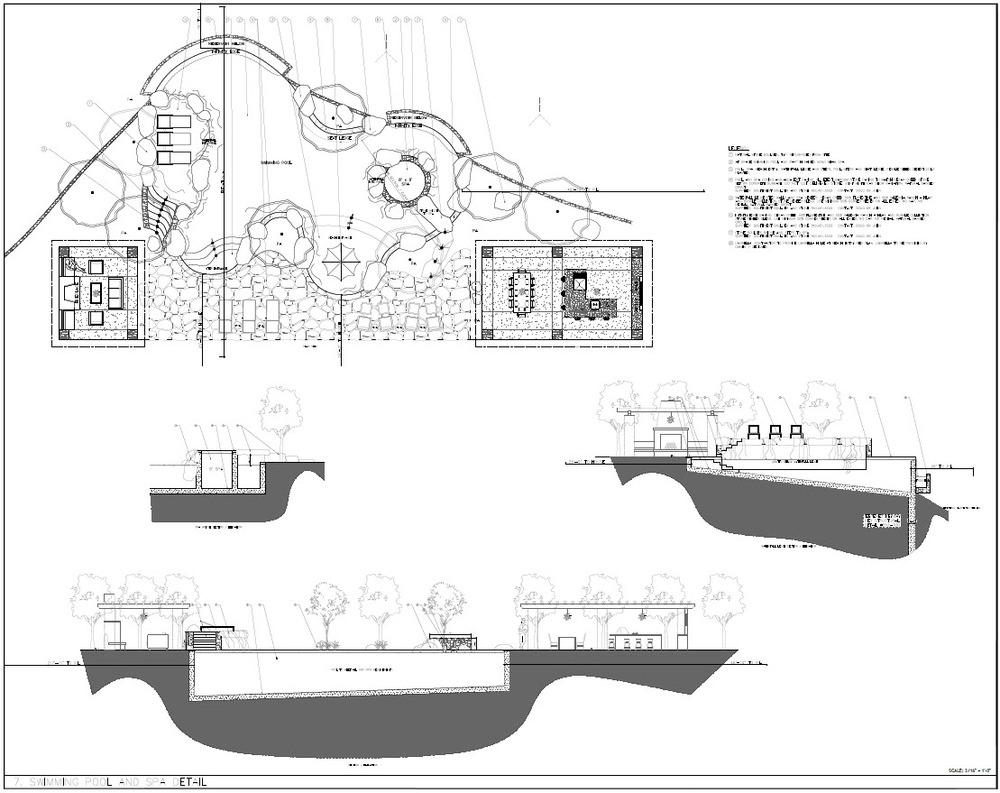 Temecula estate swimming pool design details.