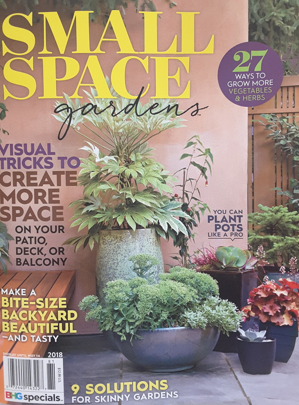 Our San Clemente Design featured in Small Gardens magazine.