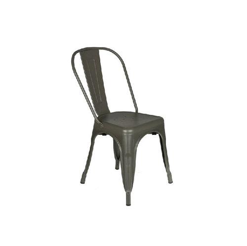 grey metal bistro chair living gardens landscape design