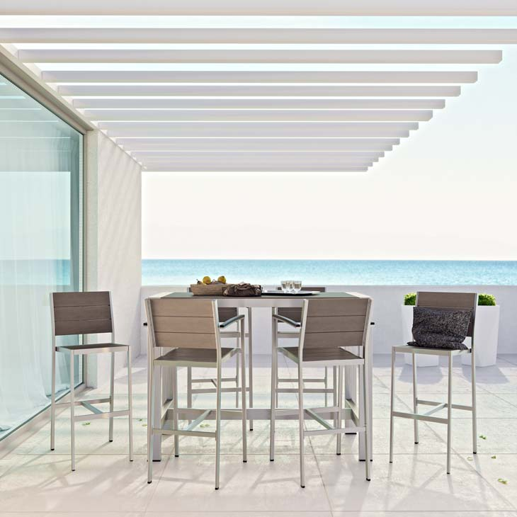 Mandalay Bar Collection   Enjoy your patio or backyard leisure time with the Mandalay Dining Set.   Click to shop this collection.    Mandalay Lounge Collection also available.