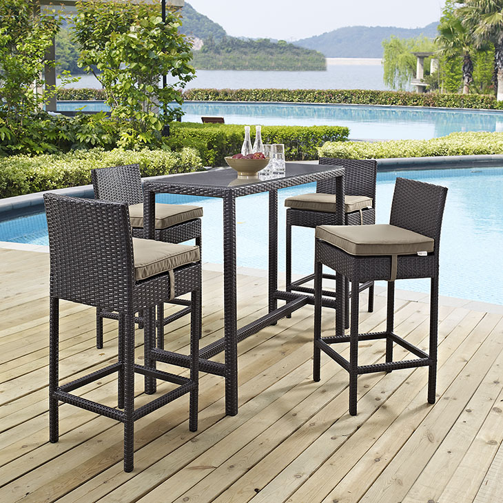 Trinidad   Bar Collection   Made with a synthetic rattan weave and a powder-coated aluminum frame, Trinidad is a versatile outdoor collection that shifts and combines according to the spontaneous needs of the moment.    Click to shop this collection.    Trinidad Lounge Collection also available.   Additional colors available.