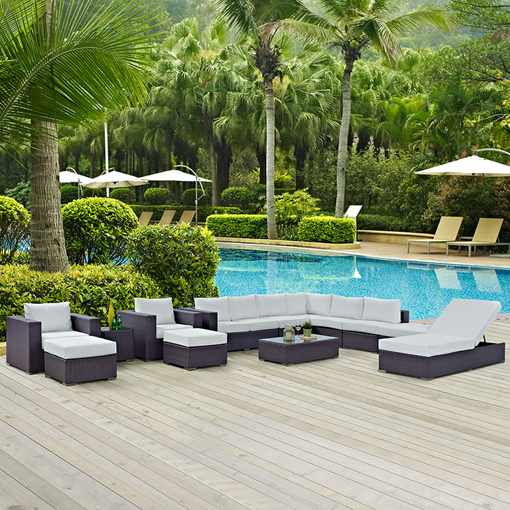 Trinidad Lounge Collection   A versatile outdoor collection.   Click to shop this collection.    Trinidad Dining Collection also available.   Available with White or Beige fabric.