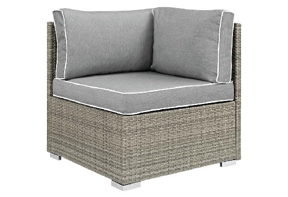 Palermo Outdoor Corner/End Chair In Light Gray