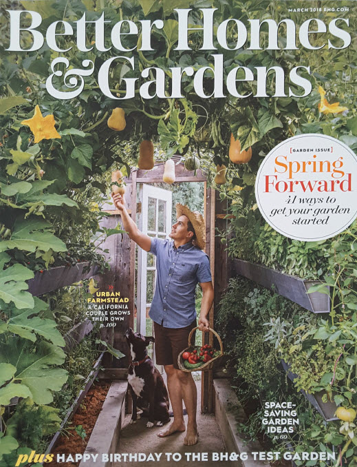 Better Homes and Gardens Magazine. Link to publication imagery